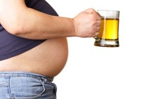 Remove the beer belly from a man